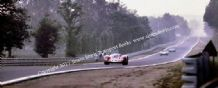 "Ferrari 312P Rodriguez/Piper. 12x5"" photo. Mulsanne straight. Le Mans 1969"